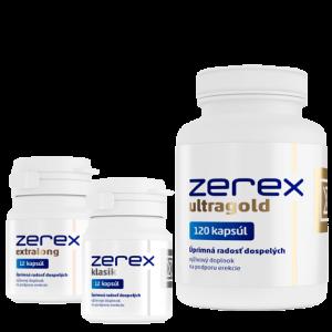 Prípravky na erekciu, potenciu a afrodiziaká Zerex